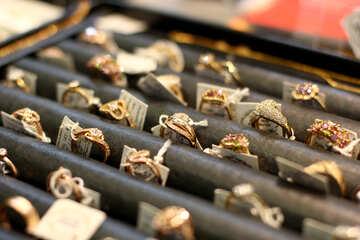 Portagioie in metallo con anelli №53006