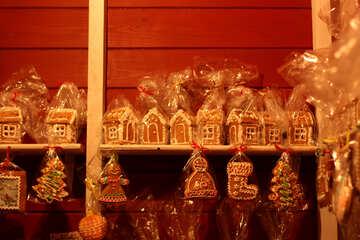 christmas houses gingerbread ornaments shop window №53487