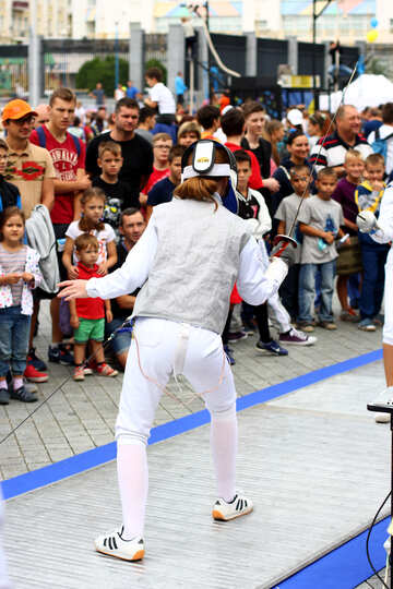 fencing white pants children people №53991