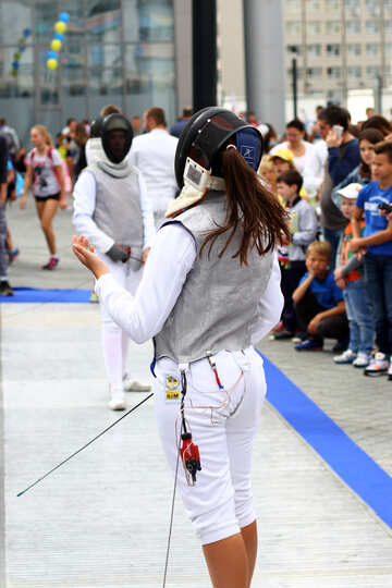 Girl woman Fencing back of №53996