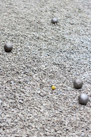 Metal bearings balls in sand №53982