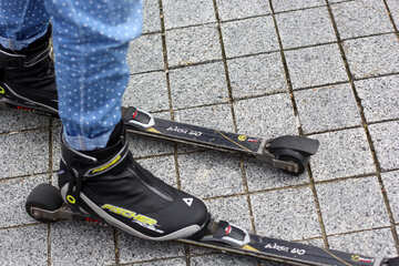 Shoe on skates scating shoes boots Roller foot №53995