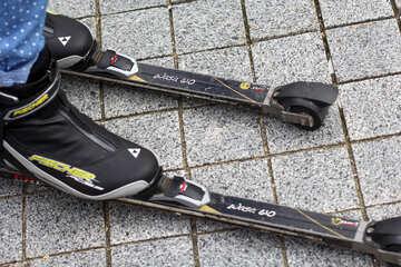 Wheelie skis shoes skate board №53994