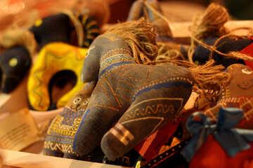 horse pony toy folk  doll №53515