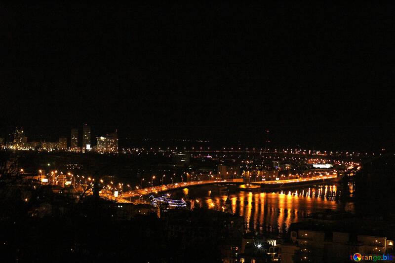 City in the dark night lights №53600