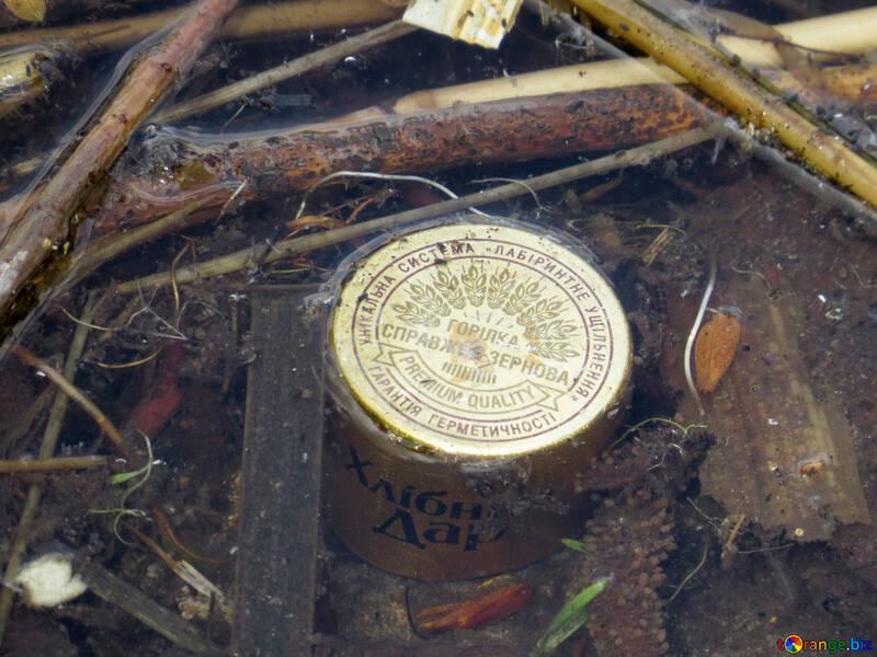 Trash bottle cap in nature №53415