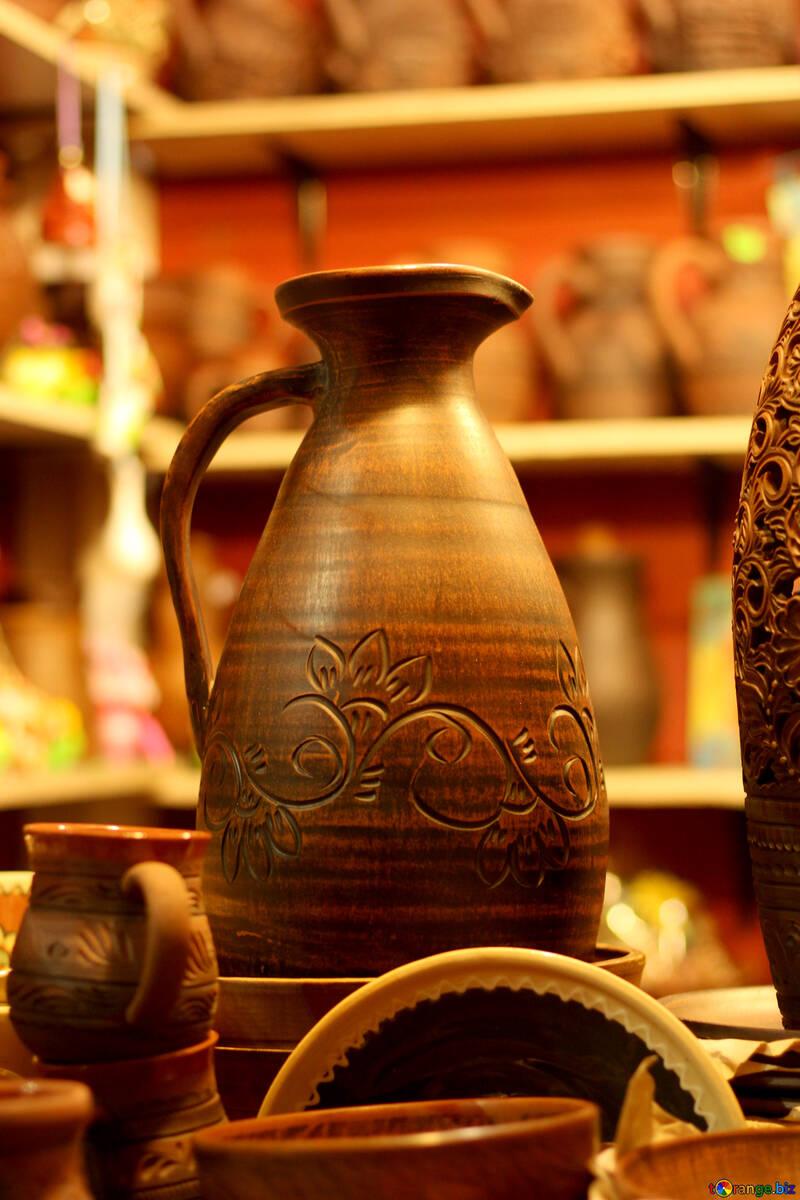 pottery jug vase №53497