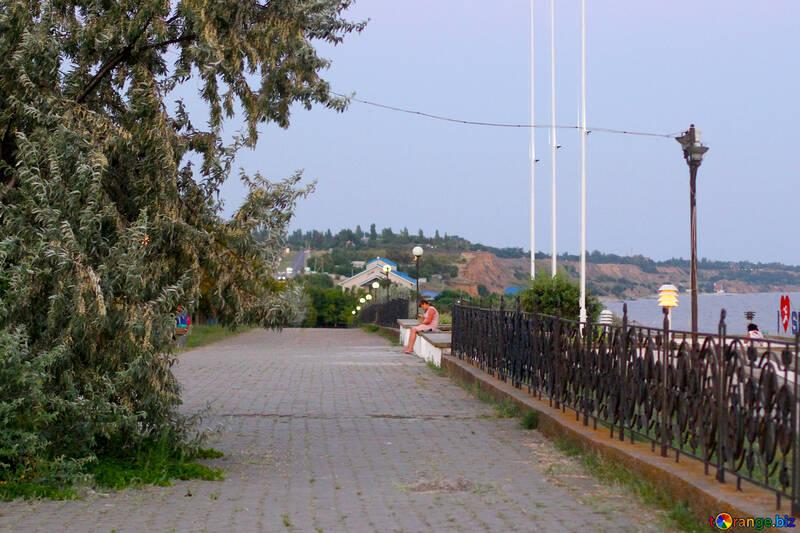 promenade near sea  landscape №53219