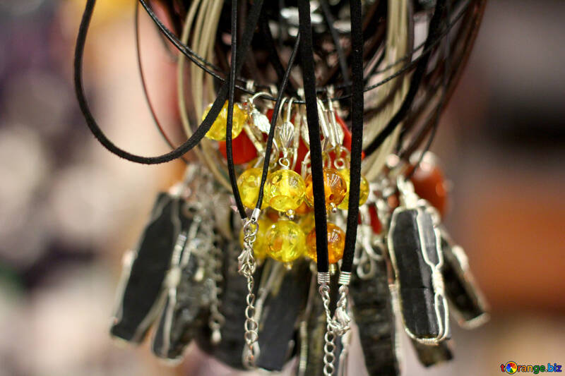 bunch of wires key chain necklaces №53157