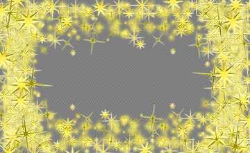 Frame 3d gold stars