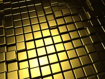 3d abstract gold metal cube background