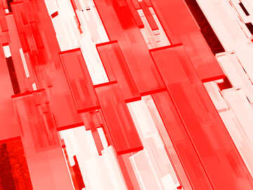 Creative 3d abstract squares lines modern red background