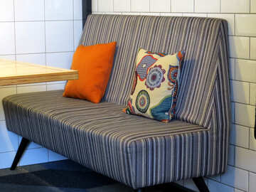 armchair Pillow table and booth couch №54022