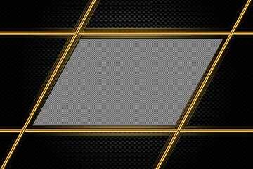 Carbon gold lines frame