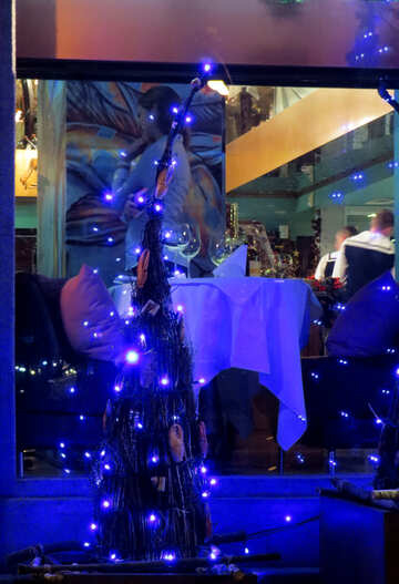Christmas lights fairy glow background №54061