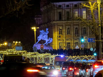 christmas lights xmas parade city №54055