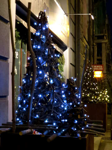 City Christmas tree blue №54044