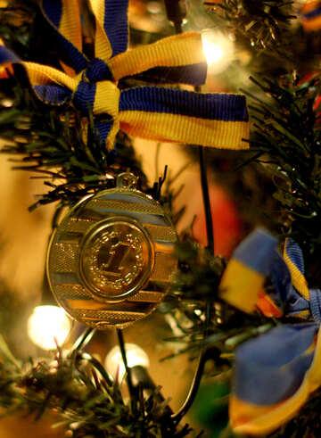 Fondo della cartolina d`auguri di sport di Natale №54896