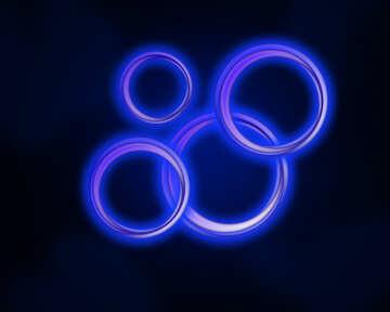 Neon glow circles №54924