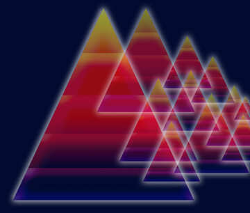 Colors dark background design with  pyramids  knowledge wisdom and shiny neon glow