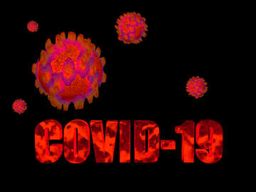 Covid-19 Coronavirus dark background