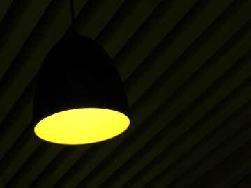 yellow oval hanging light lamp circle №54023