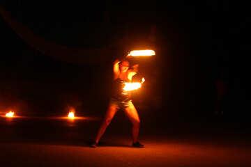 Fire dancing №54398
