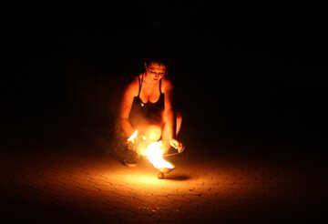 Fire woman №54383