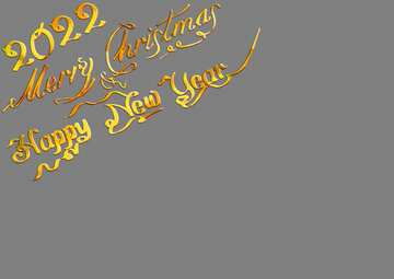 Happy New Year 2022 and Merry Christmas wishes lettering text