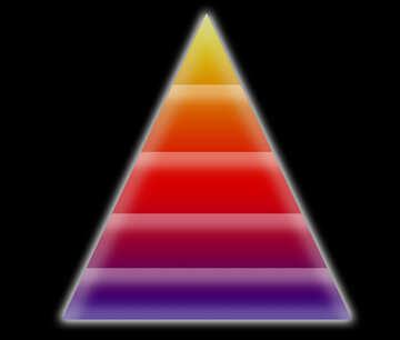 infographic template pyramid information pyramid model knowledge wisdom №54758