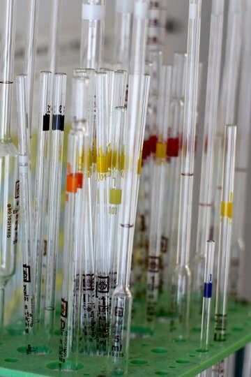 Test-tube glass  lab tubes equipment syringe №54652
