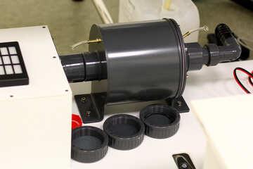 Plastic machine gray black motor №54559