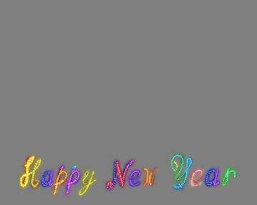 Neon Glow Happy New Year №54874