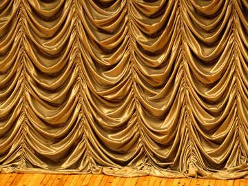 A gold curtain balloons texture №54037