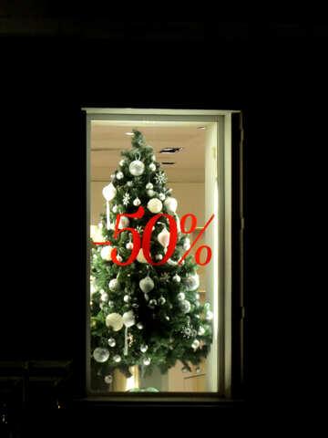 Christmas Tree reflection xmas show sale №54049