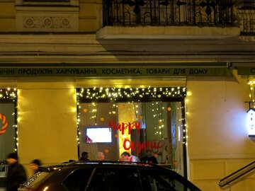 Window Christmas lights shop №54043