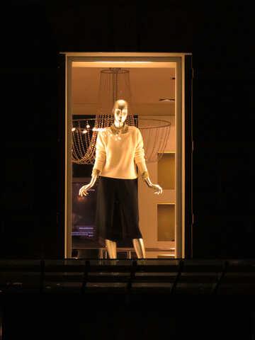 window and women standing mannequin №54052