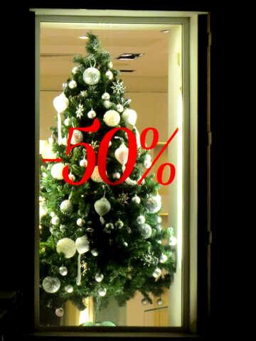 Christmas tree sale store shop window №54050