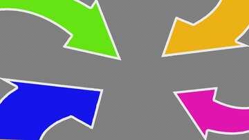 Colors arrows Youtube thumbnail transparent background №54779