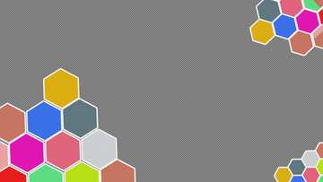 Honeycomb colors Youtube thumbnail transparent background