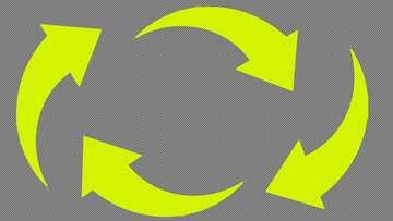 Yellow arrows  Youtube thumbnail transparent background №54783