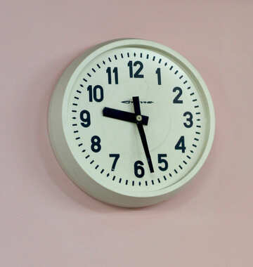 Wall clock in zoom Watch good time №54036