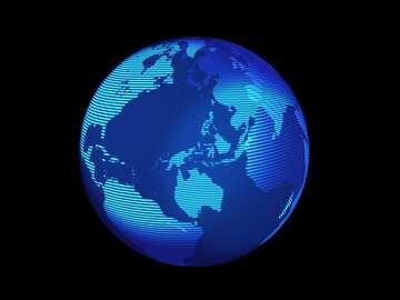 Simbolo moderno del pianeta di concetto della terra del mondo globale