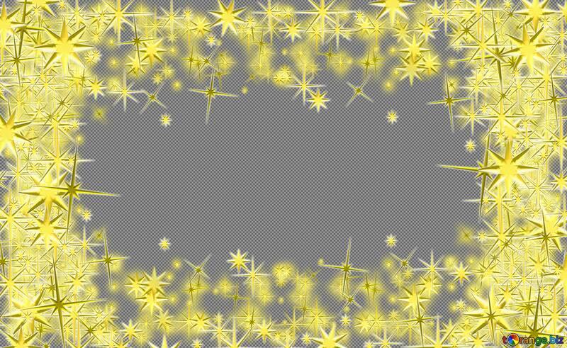 Frame 3d gold stars №54460