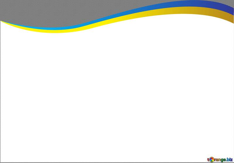Blue and Yellow curved ribbon №54689
