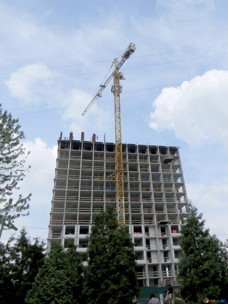 building under construction crane №54127