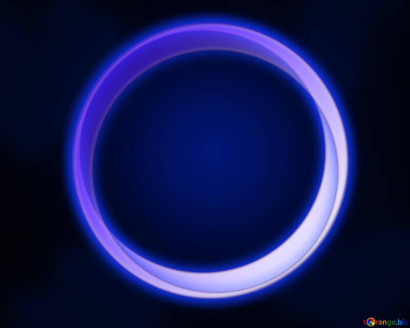 Neon circle frame №54926