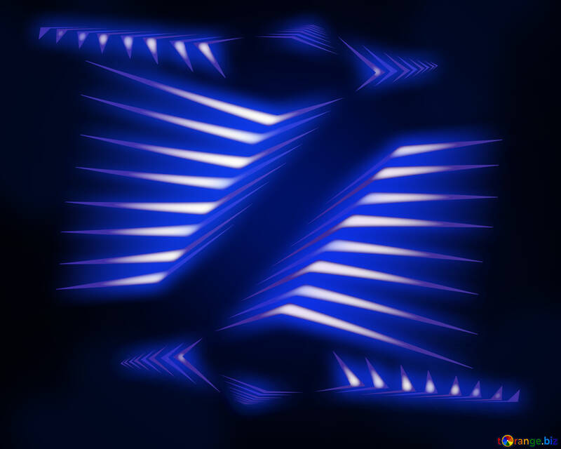Blue technology background with lights effect №54907