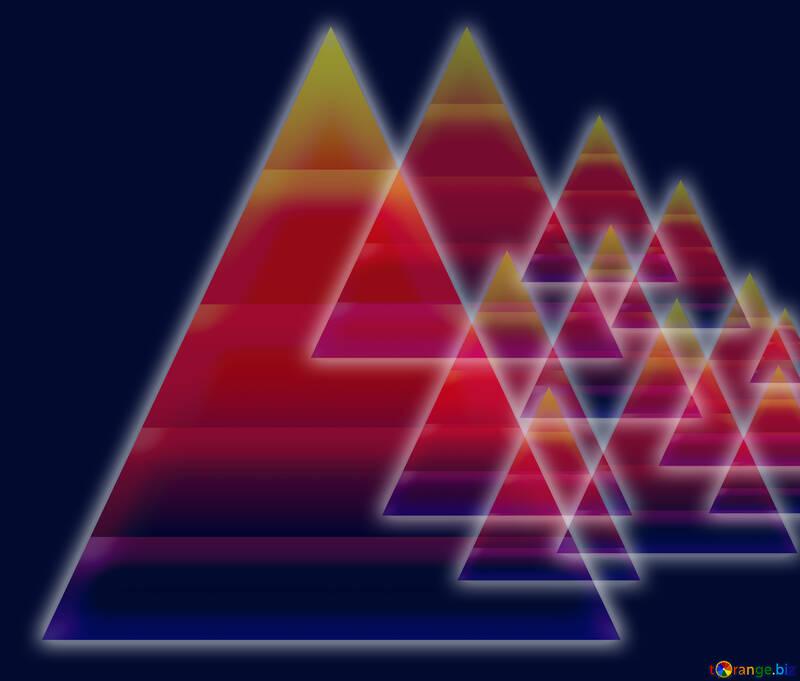 Colors dark background design with  pyramids  knowledge wisdom and shiny neon glow №54760