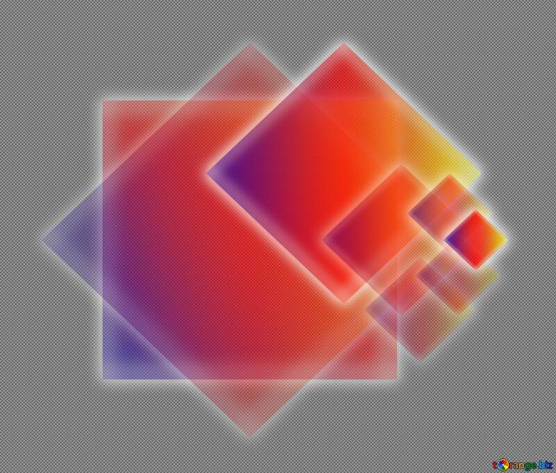 Colors transparent design with squares and shiny neon glow №54756